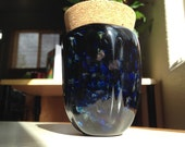 Hand Blown Glass Jar - Outer Space Optic with cork