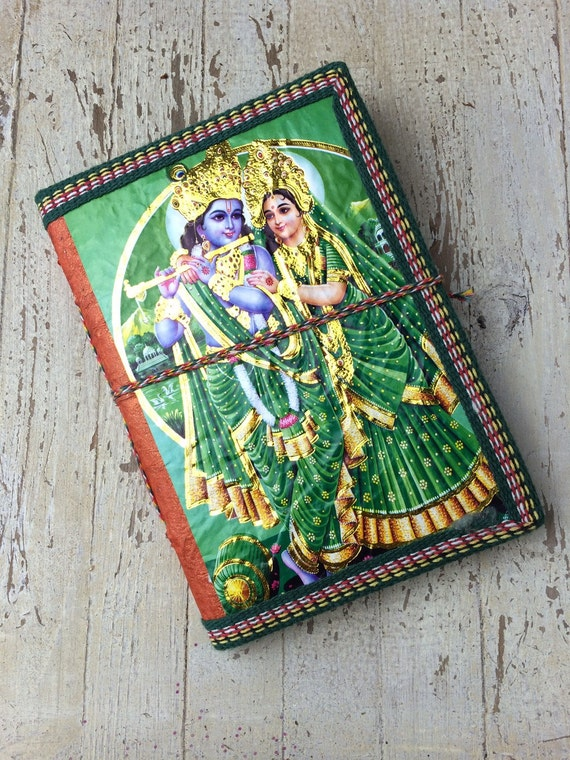 INDIAN JOURNAL - Indian notebook - Rainbow notebook - Student-Christmas gift- Sketch book - Handmade - Natural paper- Journal