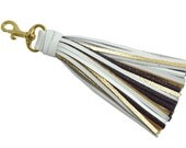 Leather Tassel, Tassel Purse Charm, Tassel Key Fob, Tassel Handbag Charm, Tassel, Gift for Her