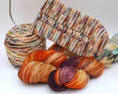 Pre Order: Hand Dyed Fingering, Sock Yarn, Superwash Merino Wool and Nylon, Variegated, Knitting Yarn, SOCKtober2016
