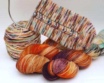 Pre Order: Hand Dyed Fingering, Sock Yarn, Superwash Merino Wool and Nylon, Variegated, Knitting Yarn, SOCKtober2016