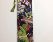 Upcycled Marvel Comic Book Bookmark
