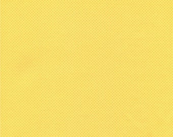 Bright Yellow Pin Dot, Yellow Pin Dots Fabric, Yellow and White Polka Dots Fabric, 012024