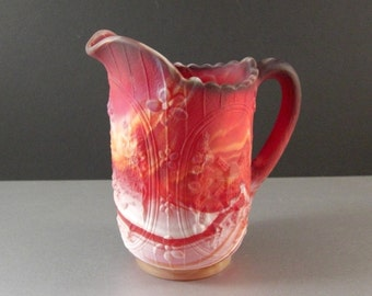 Imperial Red Slag Glass Pitcher / Windmill / End of Day