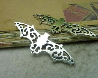10pcs 19*56mm antique silver  bat flyer charms pendant C7716