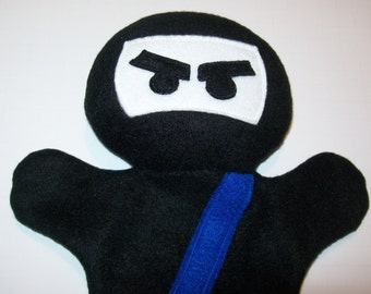 "11"" Fleece Ninja Hand Puppet - Ready to Ship!"