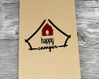 Happy Camper Lined Vinyl Decal Journal