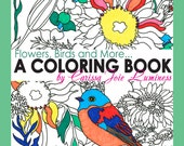 Flowers, Birds and More, Adult Coloring book