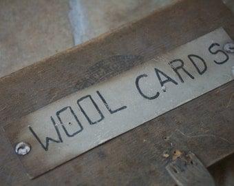 One Wool Card, Home Decor, Wool, Home, Wool Brush, Primitive Wool Card, Old, Book Shelf