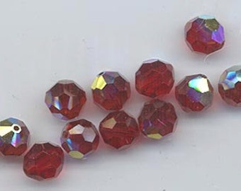 "Twelve ""out of program""  Swarovski crystals - Art. 5000 - 8 mm - siam AB"