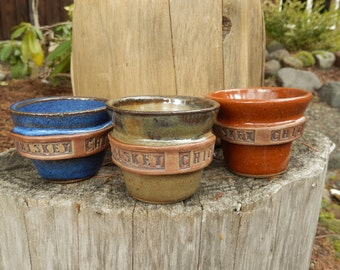 WHISKEY CHIC Shot Glass-Espresso cup-Mini mug-Hand thrown Pottery-Shot N a Half-Choice of Colors