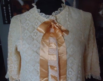 Beautiful Lace and Satin Housecoat/Robe