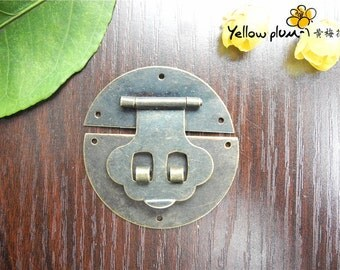 50*50 mm Antique Brass Color Box latch,lock latch,jewelry box latch making wood box latch,can match a lock, A039