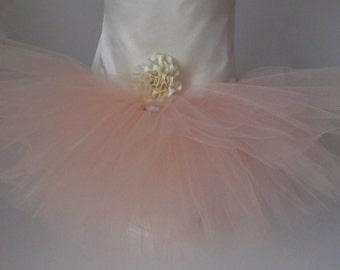 Dog Ivory and Peach Wedding Dress , Dog Peach Wedding Tutu Dress -  Bridesmaid Dog Dress Tutu, bridal dog Dress