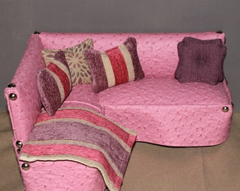 Playscale sectional couch for 1/6 barbie scale dolls