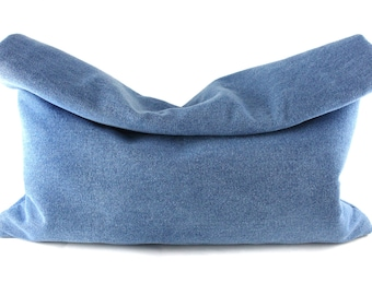 Denim Roll-Down Clutch | Oversized Clutch | Large Clutch | Jean Clutch | FOldover Clutch | Handbag | Handmade