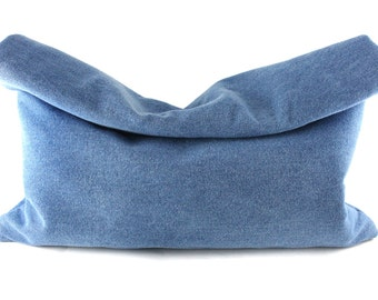 NEW! Denim Roll-Down Clutch | Oversized Clutch | Large Clutch | Jean Clutch | FOldover Clutch | Handbag | Handmade