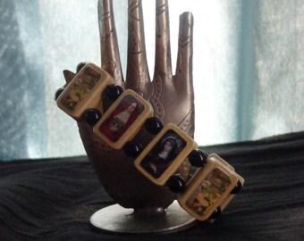 Saint Bridget Wooden Devotional Bracelet. Goddess Bride.