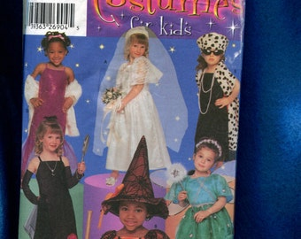 Simplicity 5409 Witch Wedding Fairy & More Costumes for Girls Size 3 to 8