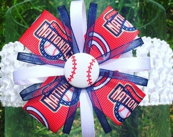 Washington Nationals Baseball Headband or Hair Bow