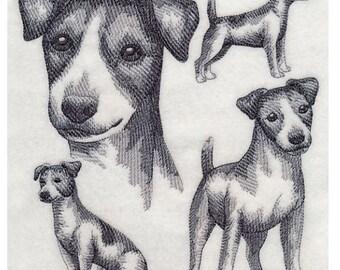 Custom Embroidered Jack Russell Terrier Sweatshirt S-3XL