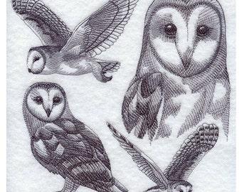 Custom Embroidered Barn Owl Sweatshirt S-3XL