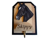 Horse Halter Hook, Bridle Holder, Wood Rack, Tack Room Wall Hanger