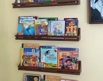 Hanging Book Shelves hanging bookshelf | etsy