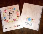 Bible Journaling - Scripture Journaling - Journal - Christian gift - Personalized Scripture Journal - **Blue & Pink Floral**