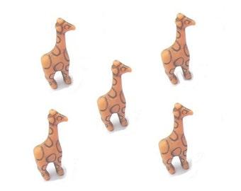 24 Giraffe Beads - Antique Orange