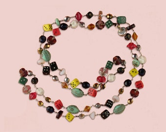 Tiny Dice and Bead Necklace