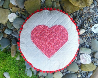 PDF Pattern: 'In The Round' Heart Cushion