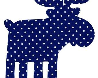 Moose applique - iron on DIY - navy and white