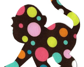 Monkey iron on fabric applique DIY
