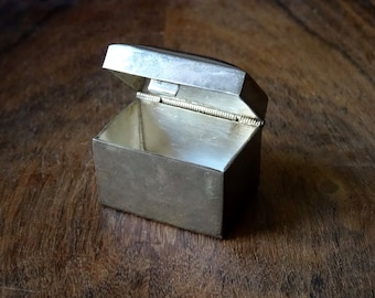 SOLD-Taxco Sterling Silver Pill Box