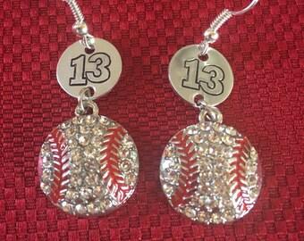 Personalized Sports Earrings