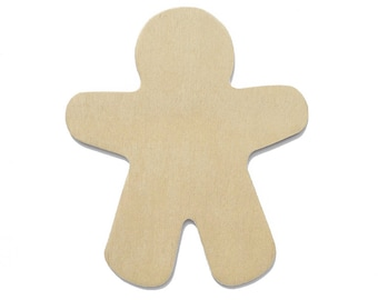 25 Wood Gingerbread Men Cut-Outs - 3 7/8 Inch, Unfinished and Ready to Embellish for Holiday Crafts