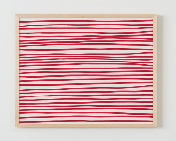 Fine Art Print. Red Stripes, December 15, 2015.
