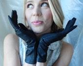Long Black Gloves - Vintage Gloves - Stretchy Black Gloves - Soft Black Gloves - Black Formal Gloves