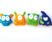 Bath toys 4 baby monster sponges terrycloth baby bathing