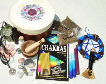 Small Pagan Wiccan Witch Box Starter Kit - Traveling Altar