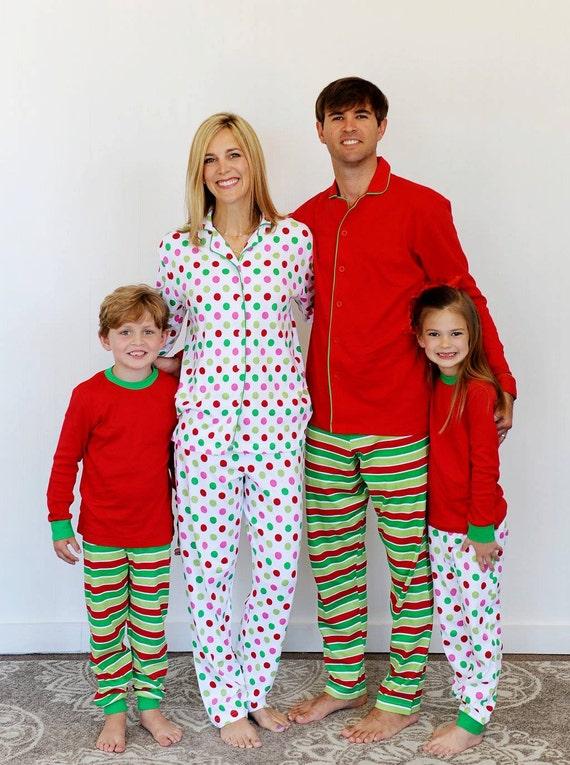 Adult Family Christmas Pajamas Blossom Blanks By