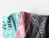 Floral Headband - Hand printed Organic Stretch Cotton