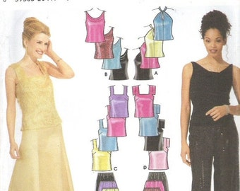 ON SALE 2001 Sewing Pattern - Simplicity 9833 Pants skirt tops Size 4-10 Uncut, Factory Folded