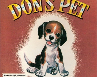 Don's Pet Vintage Whitman Help Yourself Primer Series Book by Isabelle Groetsinger Illustrated by Florence Sarah Winship