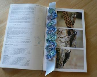 "Bookmark,Crochet With Ribbon,9"""