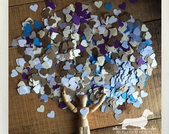 CLEARANCE! Heart Confetti (1000+ Count) -- (Mini, Small, Decor, Party, Birthday, Paper, Sprinkle, Cute, Simple, Wedding, Bridal Shower)