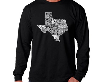 Men's Long Sleeve T-shirt - The Great State of Texas