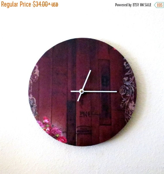 Sale large wall clock red clock unique clock home and Unusual clocks for sale