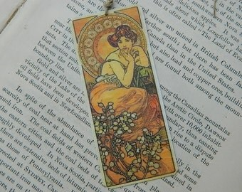 Mucha Bookmark art bookmark metal bookmark
